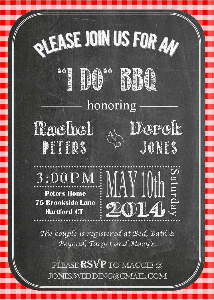 i do bbq wedding invitations