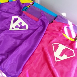 Customized superhero capes for the birthday girls using officialcricut silverhellip