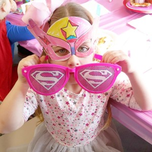 These decorateyourown superhero masks from orientaltrading were the perfect accessoryhellip