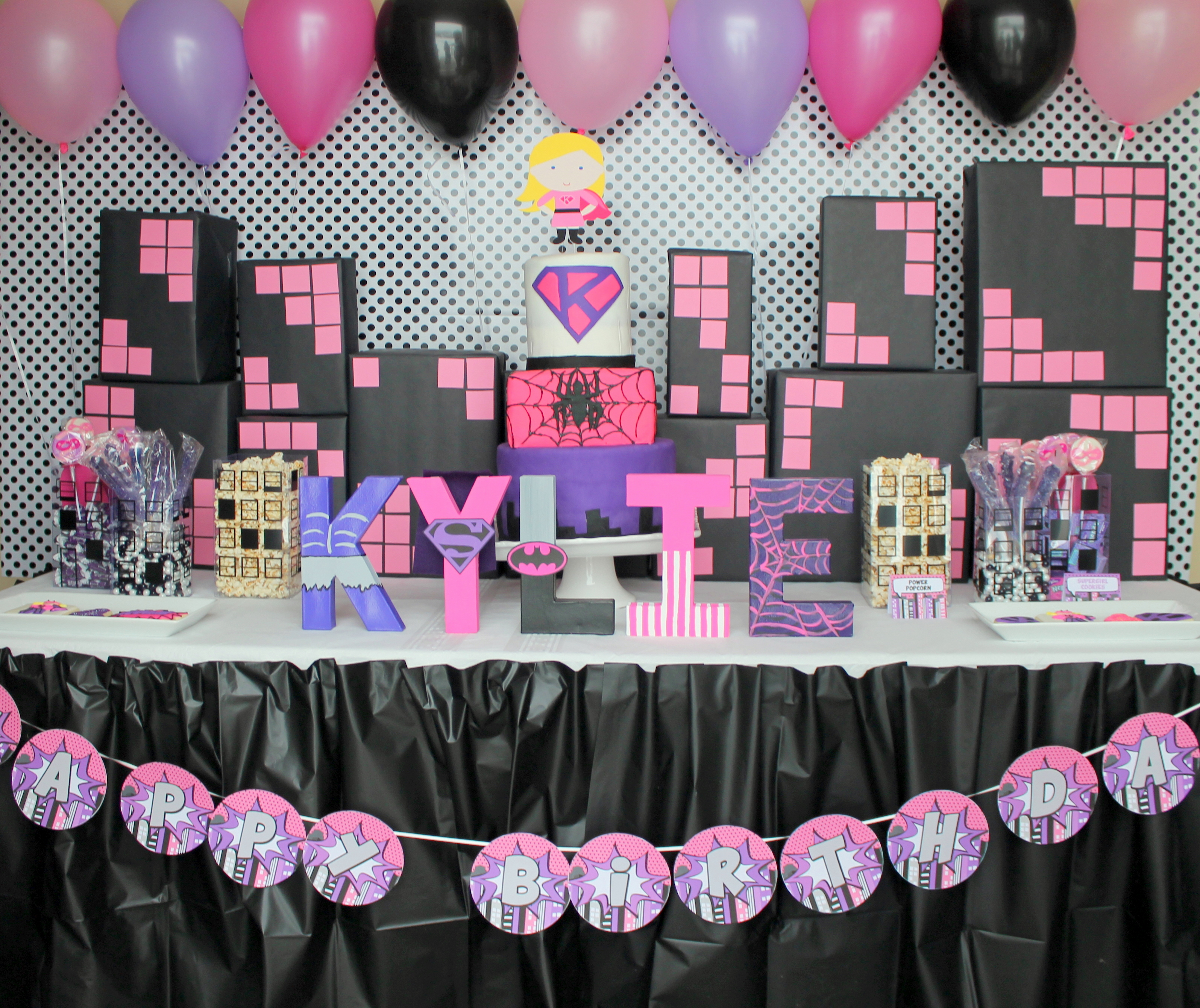 Girly Ideas For Bedrooms: A Girly Superhero Birthday Party